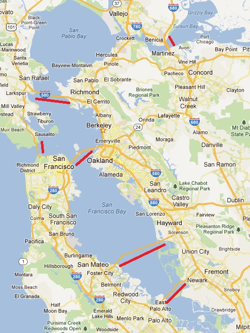 Bridges Of Bay Area Beta Thoughts Weekday & saturday service sunday serviceweekday & saturday service mapsunday service map. bridges of bay area beta thoughts